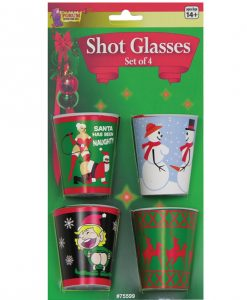 Holiday X Rated Shot Glasses - Pack of 4
