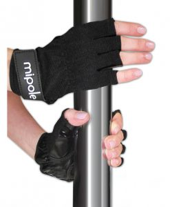 MiPole Dance Pole Gloves (Pair) Medium - Black