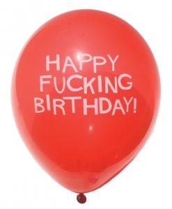 "11"" Happy Fucking Birthday Balloons - Bag of 8"