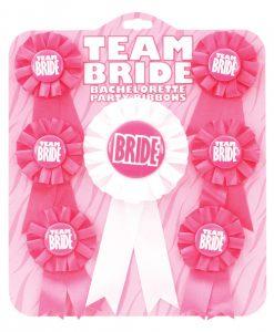 Team Bride Ribbons - Pack of 7