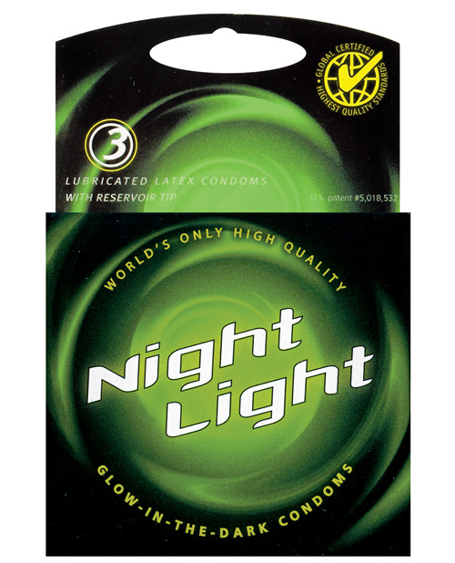 Night Light Glow in the Dark Condom - Box of 3