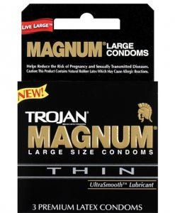 Trojan Magnum Thin Condoms - Box of 3