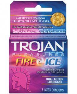 Trojan Fire & Ice Condoms - Box of 3