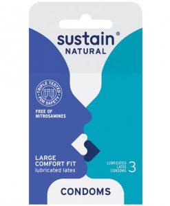 Sustain Condoms Comfort Fit - Pack of 3