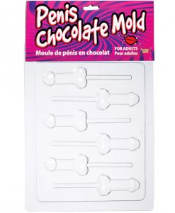 Penis Chocolate Mold - Tray of 6 Lolly Molds