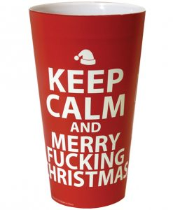 Keep Calm & Merry Fucking Christmas Drinking Cup