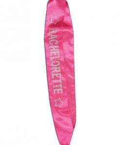 Bachelorette Sash w/Crystals - Hot Pink