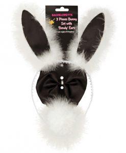 Bachelorette 3 pc Bunny Set w/Bendy Ears