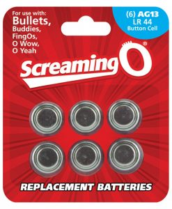 Screaming O AG13 Batteries - Sheet of 6 (Bullet