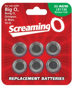 Screaming O AG10 Batteries - Sheet of 6 (BigO