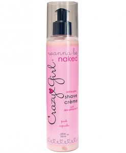 Crazy Girl Wanna Be Naked Shave Cream 8oz. Pink Cupcake