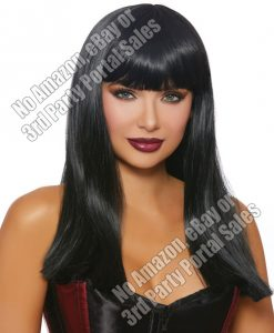 Long Straight Wig - Black