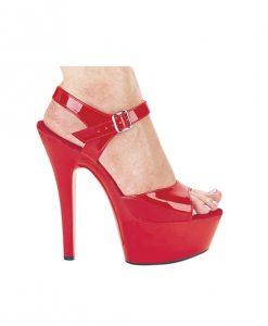 "Ellie Shoes Juliet 6"" Pump w/2"" Platform Red Ten"