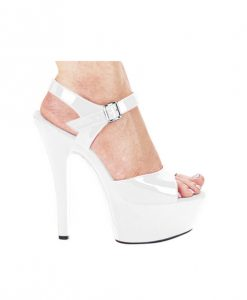 "Ellie Shoes Juliet 6"" Pump w/2"" Platform White Ten"