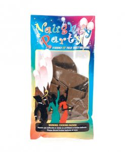 """Naughty Party 22"""" Penis Balloons - Brown Pack of 8"""