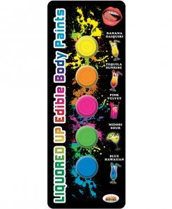 Liquored Up Edible Body Paints - 1.76 oz Asst. Flavors Pack of 5