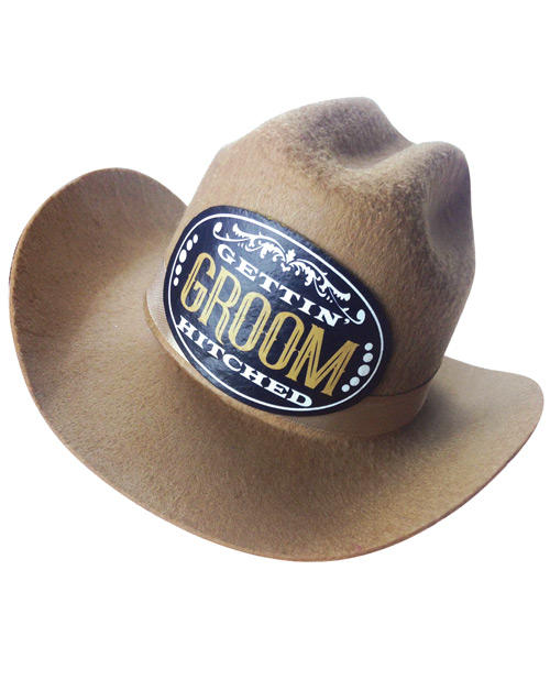 Gettin' Hitched Mini Groom Hat