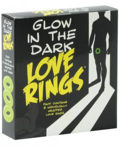 Glow in the Dark Love Rings - Pack of 3