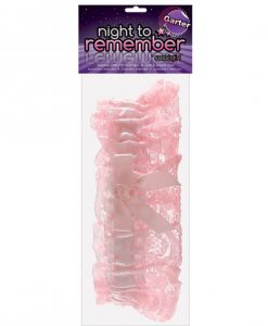 Night to Remember Garter - White/Pink by sassigirl