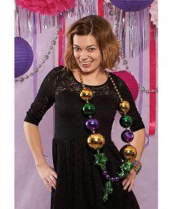 Jumbo Mardi Gras Beads w/Mask - by sassigirl