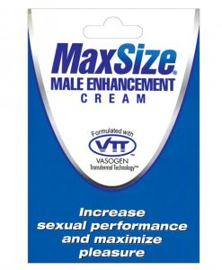 Max Size Male Enhancement Cream - Individual Foil Packet
