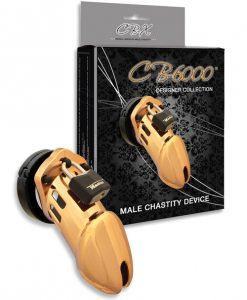 "CB-6000 3.25"" Cock Cage & Lock Set - Gold"