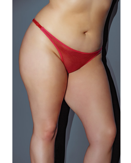 Holiday Adjustable Thong w/Bow in the Back Red QN