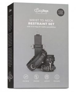 Easy Toys Neck To Wrist Restraint Set - Black