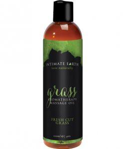 Intimate Earth Grass Massage Oil - 120 ml