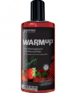 Joydivision WARMup Massage Oil - 150 ml Strawberry