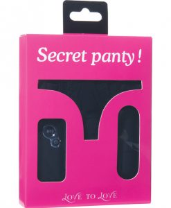 Love to Love Secret Vibrating Panty - Black