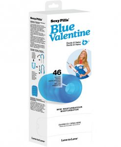 Love to Love Sexy Pills Mini Masturbator - Blue Valentine Box of 6