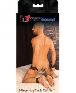 Manbound Hog Tie & Cuff Set - 5 pc
