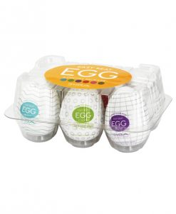 Tenga Egg Variety Display - 6 Colors Asst. Pack of 6